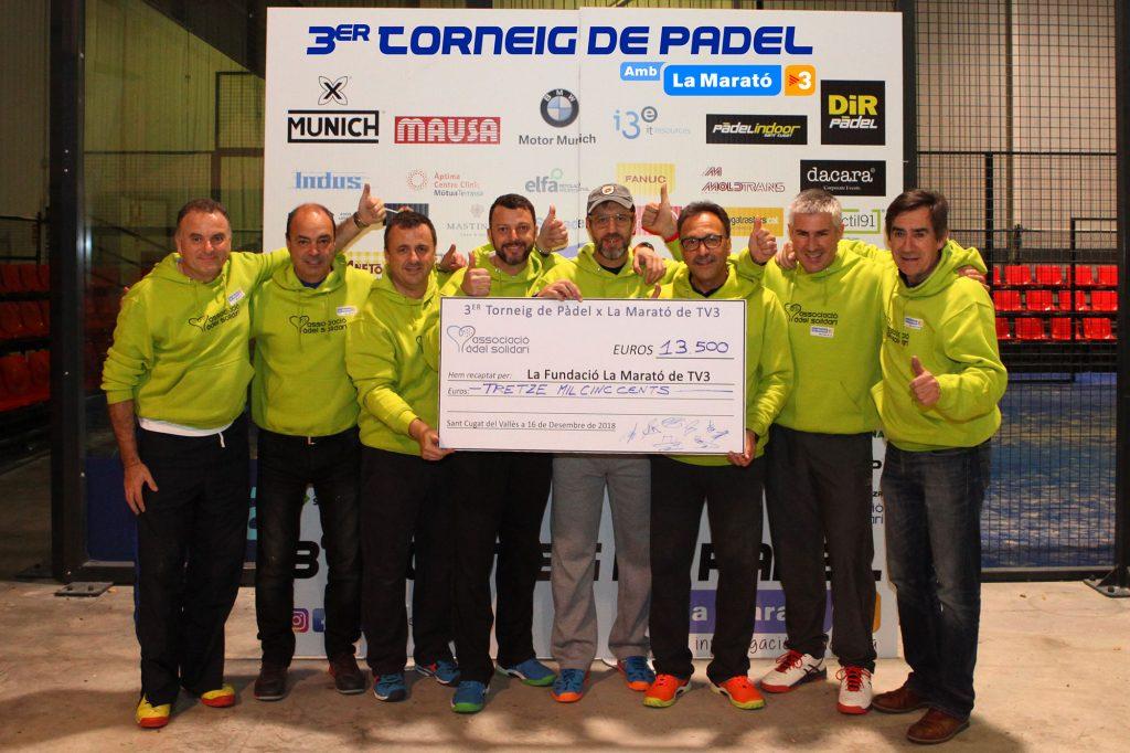 Recaptació Tornieg de Padel x La Marato